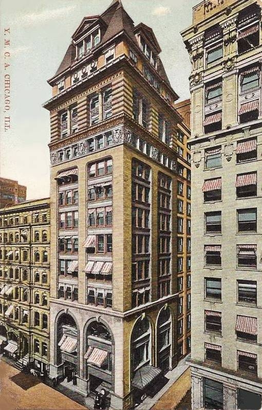 01w-01 postcard-chicago-ymca-building-old-one-stunning-c1910